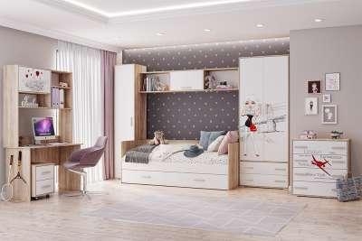 Детская мебель Бланка ТЭКС (Белый фотопечать) Комплект