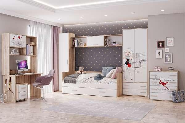 Детская мебель Бланка ТЭКС (Белый фотопечать) Комплект 1