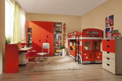Глазов-мебель Детская комната «Автобус» Компоновка 1