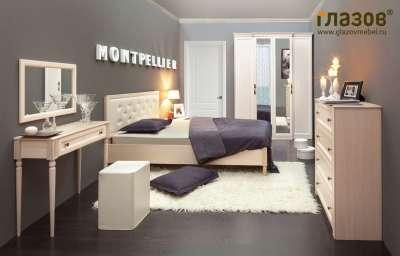 Спальня MONTPELLIER Глазов-мебель (Дуб млечный) Вариант 1
