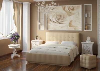 Кровать 160х200 «Лорена» Арника с подъемным механизмом Boom cream