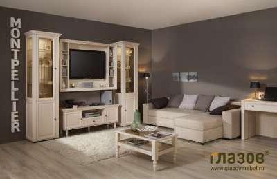 Гостиная MONTPELLIER Глазов-мебель (Дуб Млечный) Вариант 3