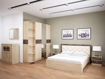 Мебель для cпальни Мадлен ТЭКС Вариант 1 (Дуб Шале мореный)