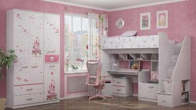 Детская комната Принцесса Ижмебель Комплект 1