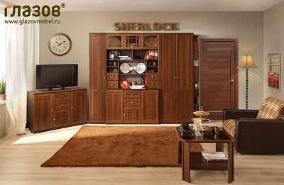 Гостиная Sherlock Глазов-мебель Орех Шоколадный Вариант 5