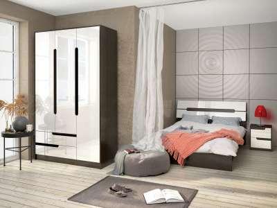 Спальня Гавана ТЭКС (Акрил Белый) Комплект 1