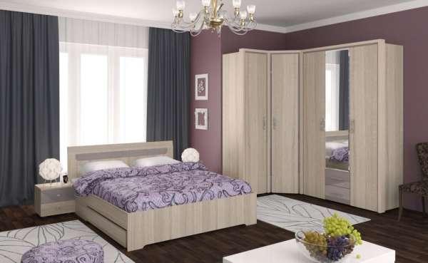 Мебель для спальни Моника Интеди (Дуб сонома) Вариант 1