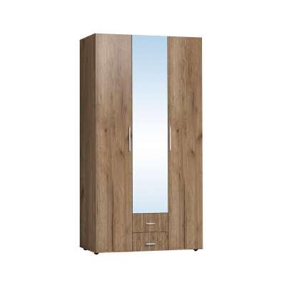 Шкаф для одежды и белья Монако 444 Глазов-мебель (Дуб табачный Craft)
