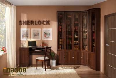 Библиотека Sherlock Глазов-мебель (Орех Шоколадный) Вариант 1